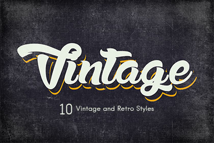 10 Free Vintage and Retro Styles