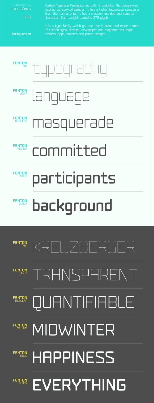 Fenton Typeface Family - Freebie