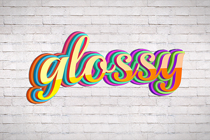 Glossy Text Effect