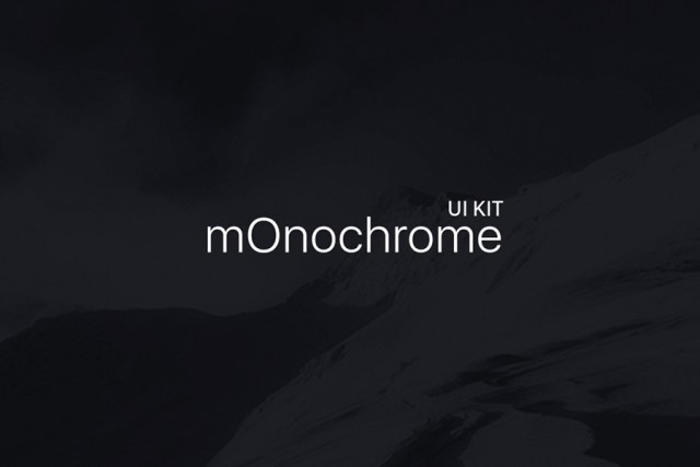 mOnochrome – Free UI KIT