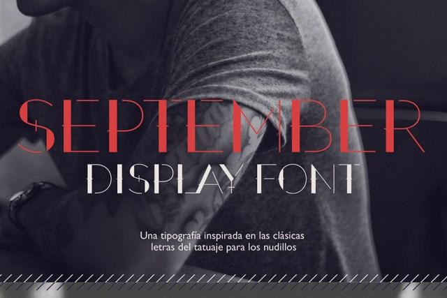 September - Free Font