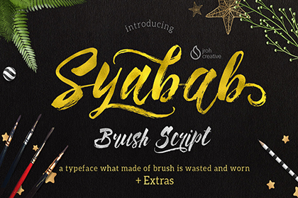 Syabab Brush Script - Free Demo