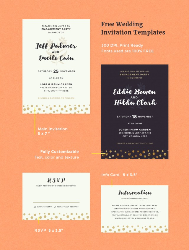 Free Wedding Invitation Templates — Free Design Resources