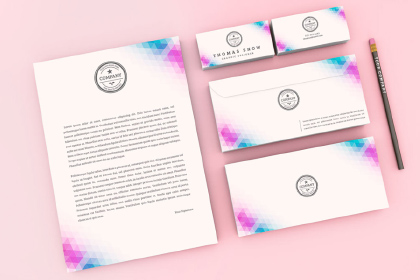 Company Stationery Kit Mockup