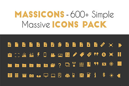 Massicons – 600+ Simple Massive Icon Pack