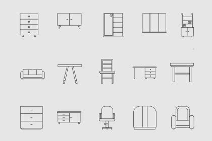 30 Free Furniture Icons