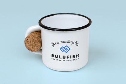 Free Tin Mug Mockup