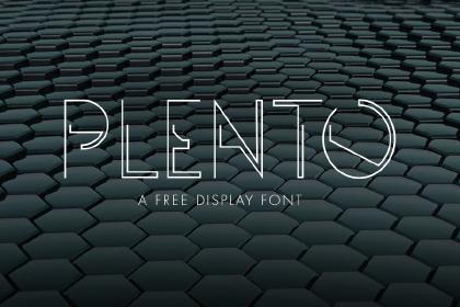 Plento - Free Typeface