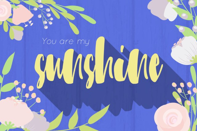 Sunshine Flowers - Free Floral Elements