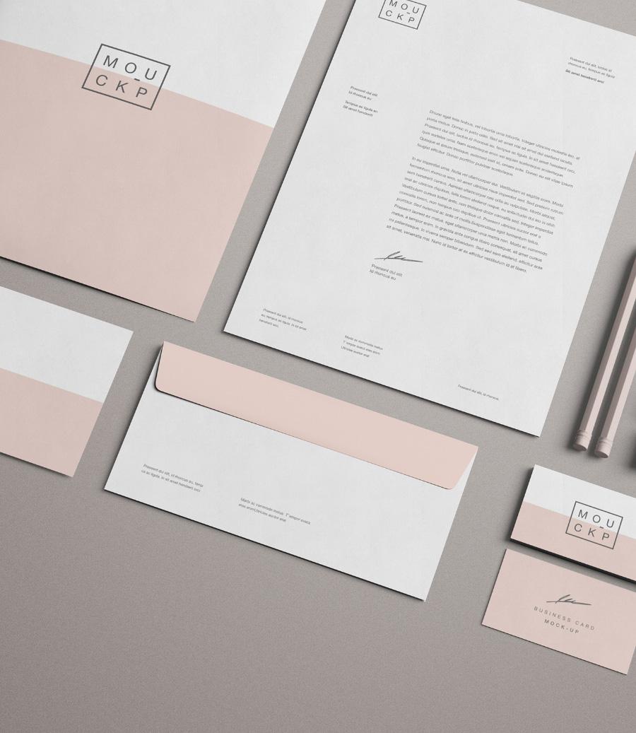 advanced branding stationery mockup  u2013 free design resources