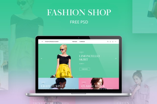 Fashion Shop Free PSD Template
