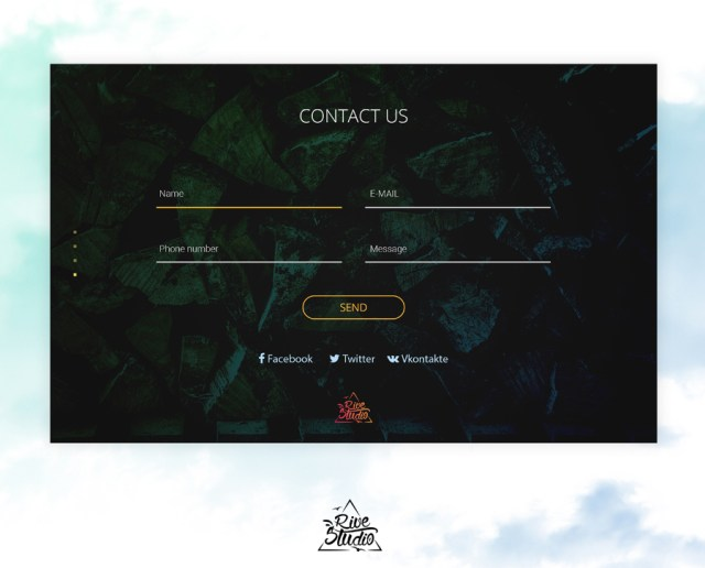 Forest One Free PSD Template