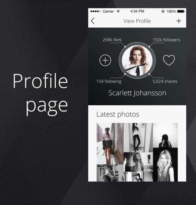 Free PSD - Profile Page for iPhone App