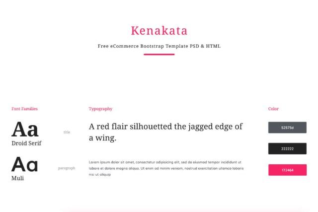Kenakata Free PSD Template