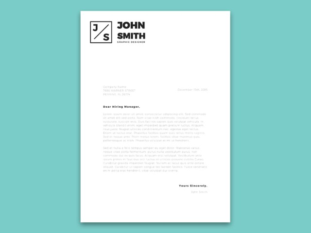 Minimalistic Resume & Cover Letter Template