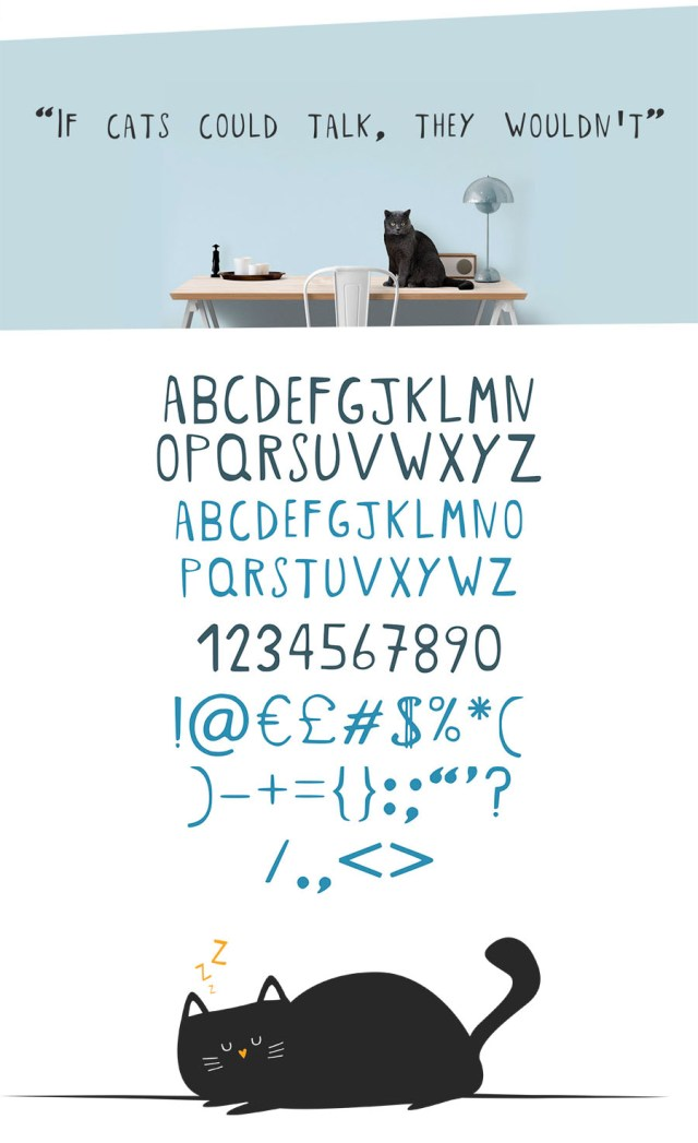 Crazy Cat Lady Font