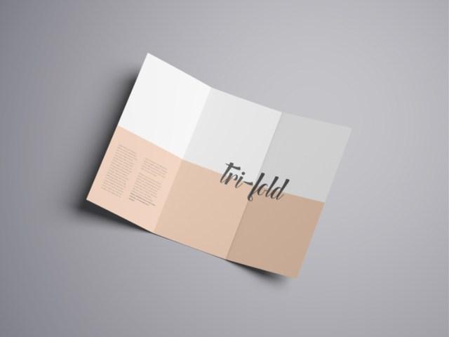 Advanced Trifold Brochure Mockup