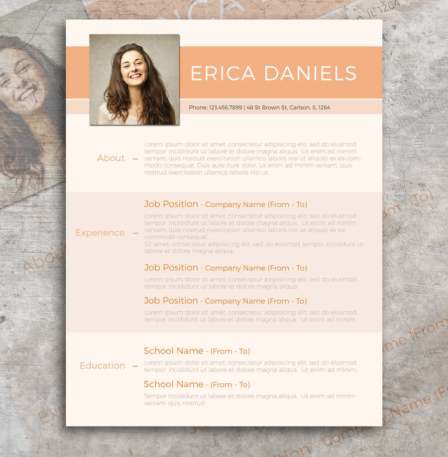Free Modern Resume Template     Free Design Resources Free Modern Resume Template