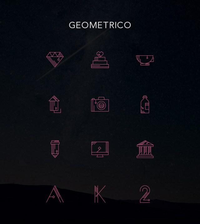 Geometrico Free Vector Line Icon