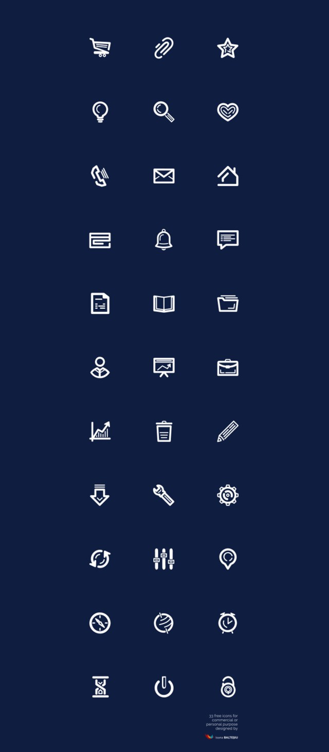 Free 33 Essential Vector Icons