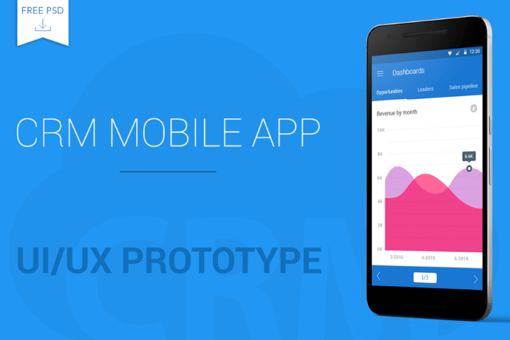 Free CRM Mobile App PSD Template