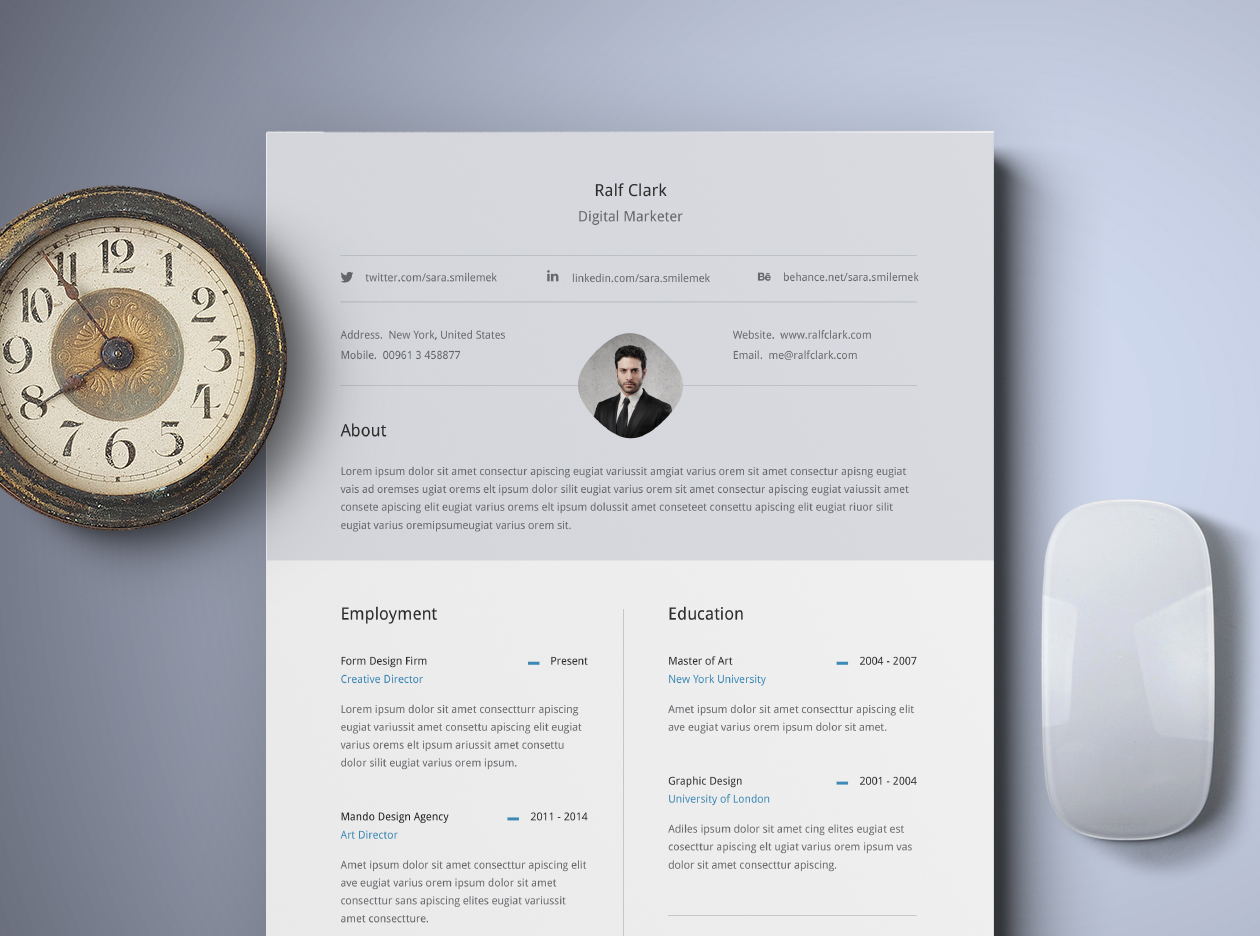 Free Classy Resume Template ...