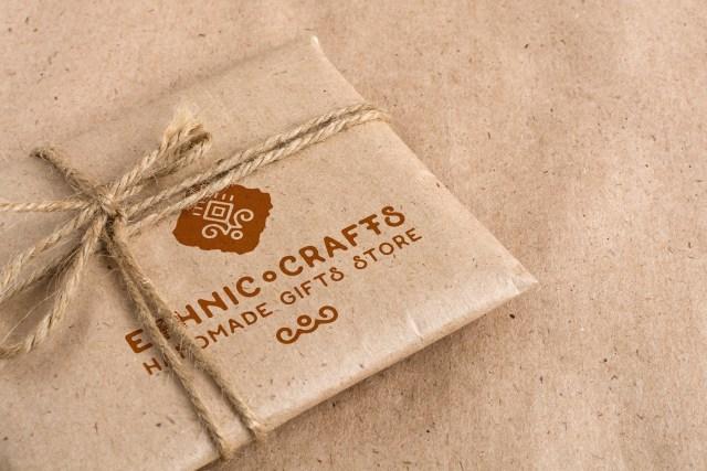 Free Craft Packaging PSD Mockup