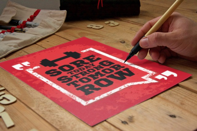 Free Handcraft Poster Mockup