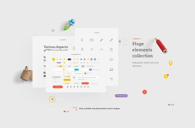 Free UI Kit Landing Page