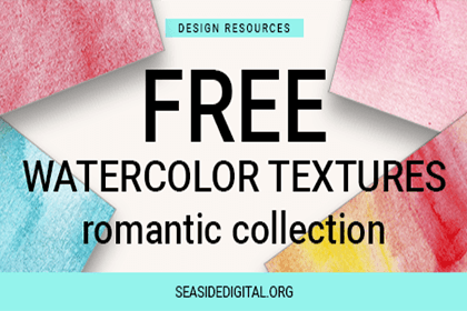 Free Watercolor Textures Romantic Collection