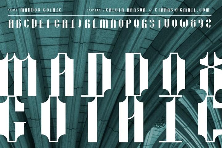 Maddox Gothic Free Font