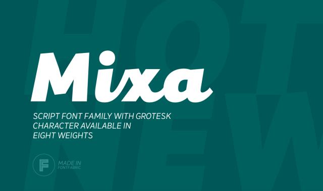 Mixa Script Font Family Free Demo