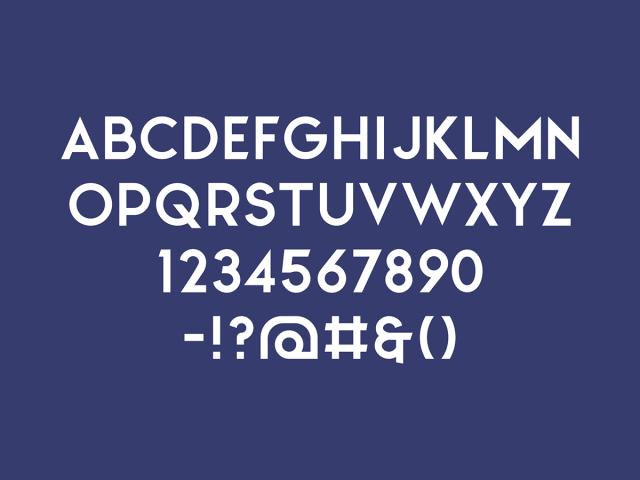 North Free Sans Serif Typeface