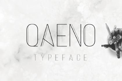 Qaeno Display Free Font