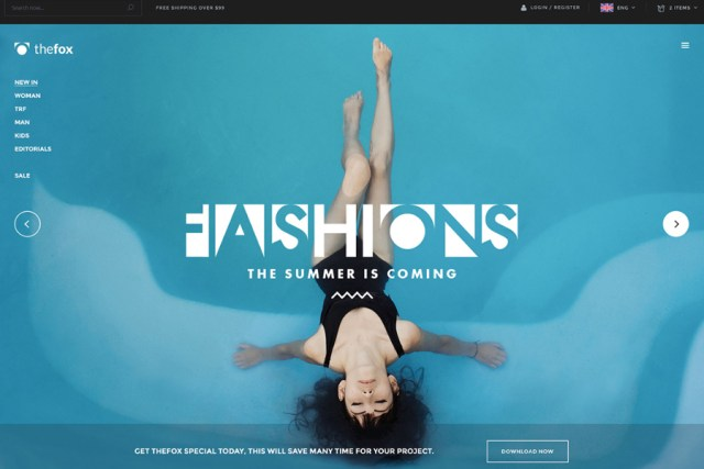 TheFox Fashion PSD Template Free Version