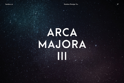 Arca Majora III Free Typeface