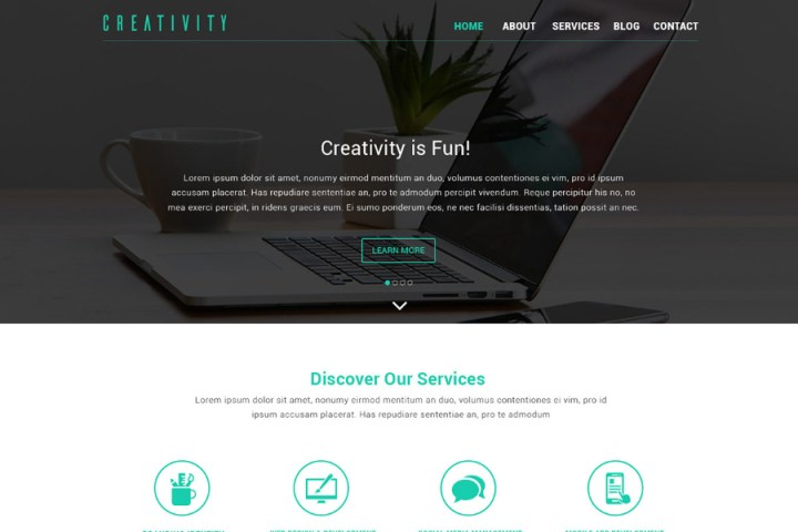 Creativity Design Studio Free PSD