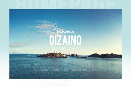 Dizaino Free One Page PSD Template