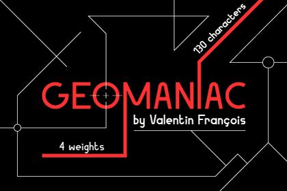 Geomaniac Typeface Free Demo