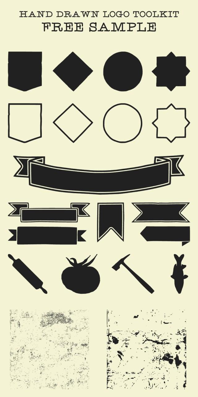 Hand Drawn Logo Toolkit Free Sample