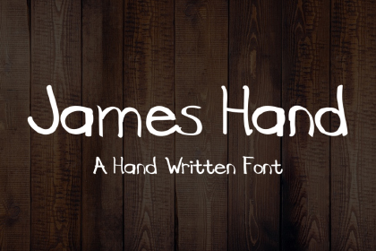 James Free Handwriting Font
