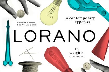 Lorano Typeface Free Demo