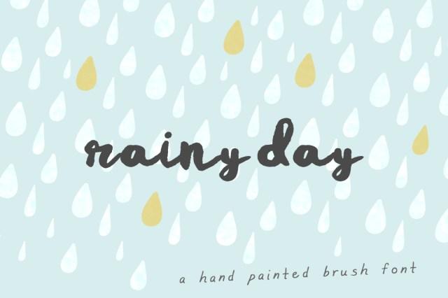 Rainy Day Brush Free Font