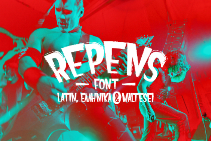 Repens Display Free Typeface