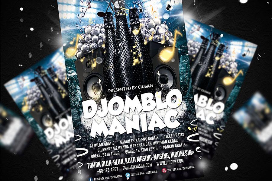 Djomblo Maniac Flyer Template