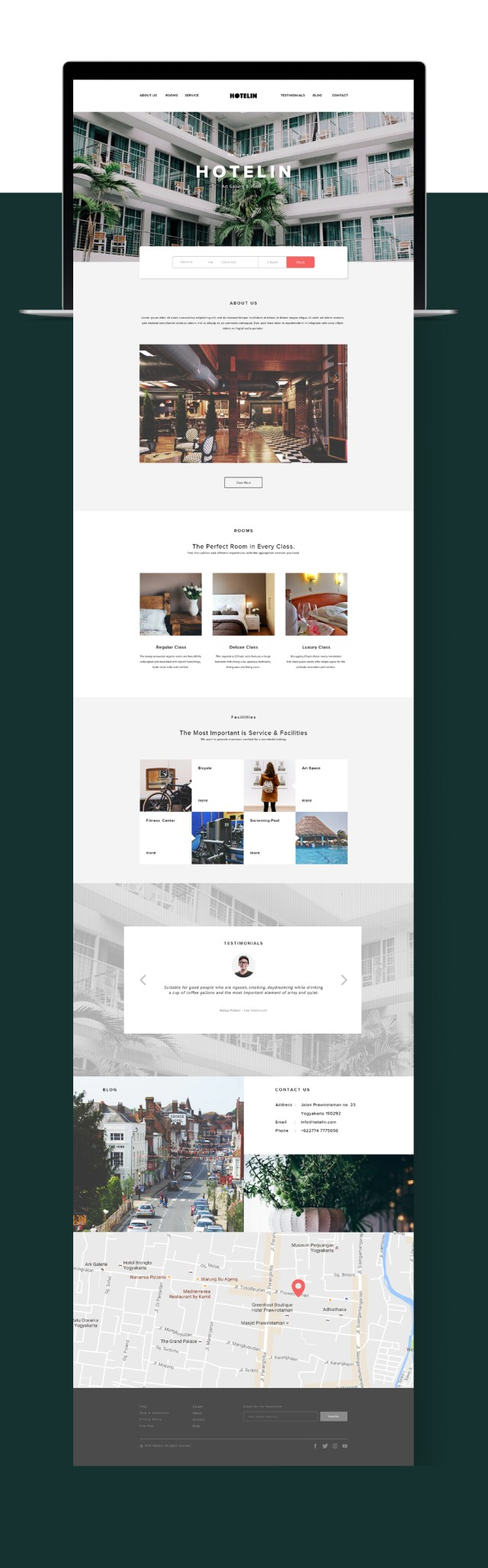 Hotelin Free PSD Website