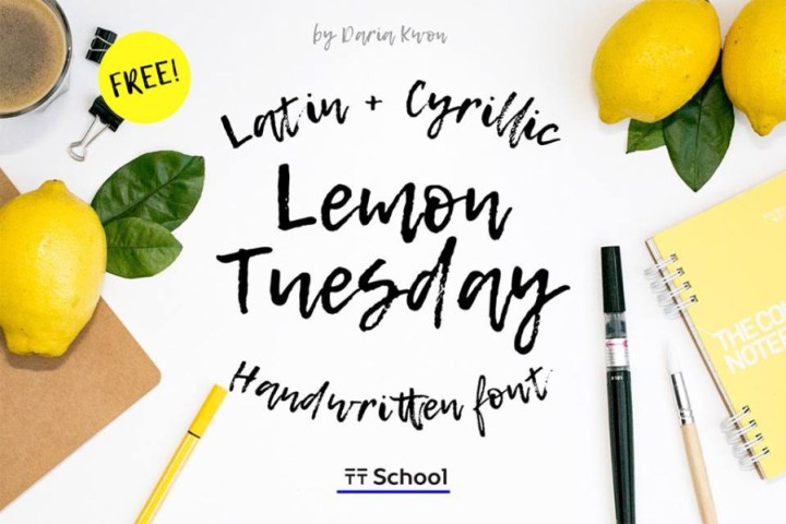 Lemon Tuesday Handwritten Font
