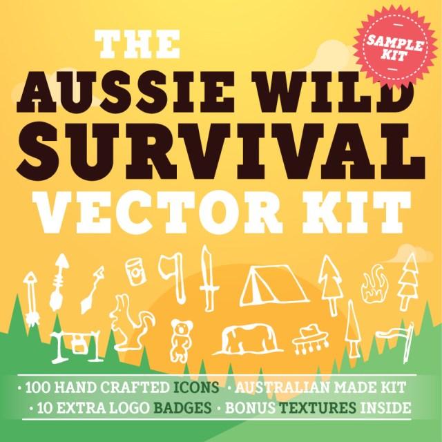Free Aussie Wild Survival Vector Kit