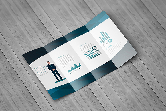 Double GateFold Brochure Mockup