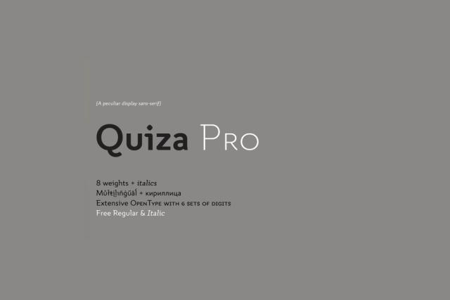 Quiza Pro Typeface Free Demo